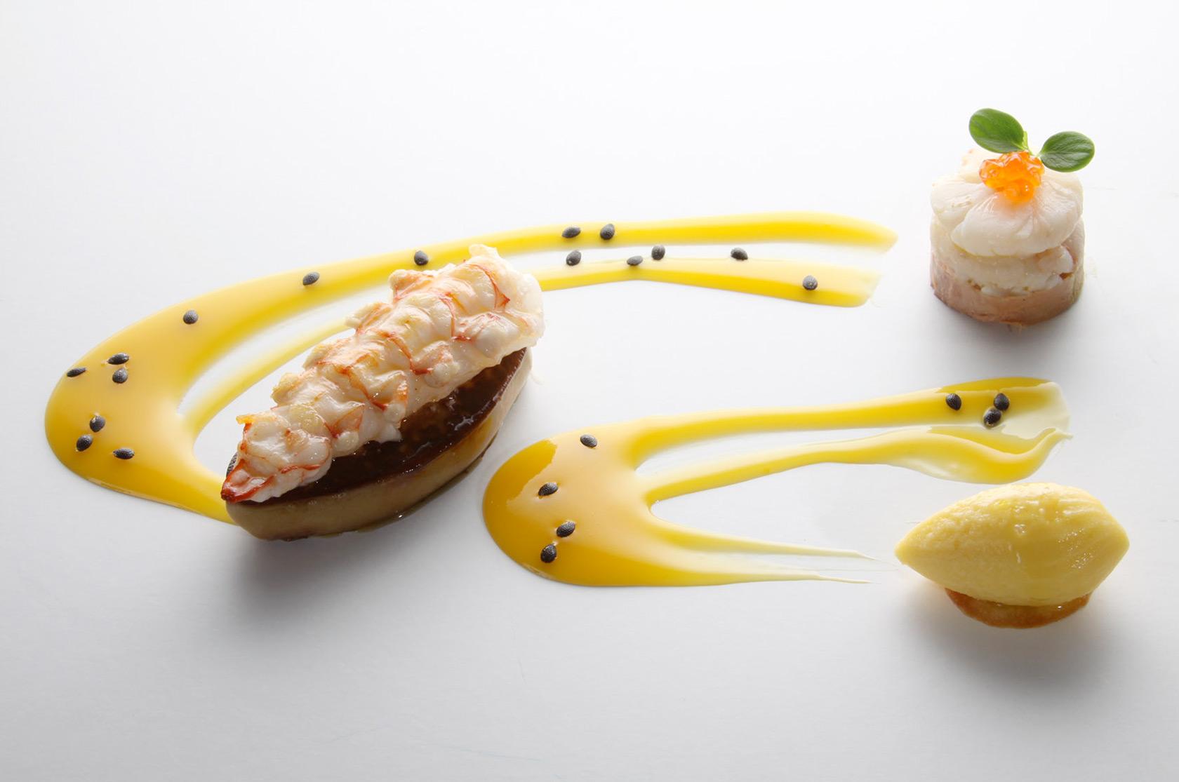 fegato-oca-scampi-frutto-passione-arnolfo-ristorante_Chef-Gaetano-Trovato