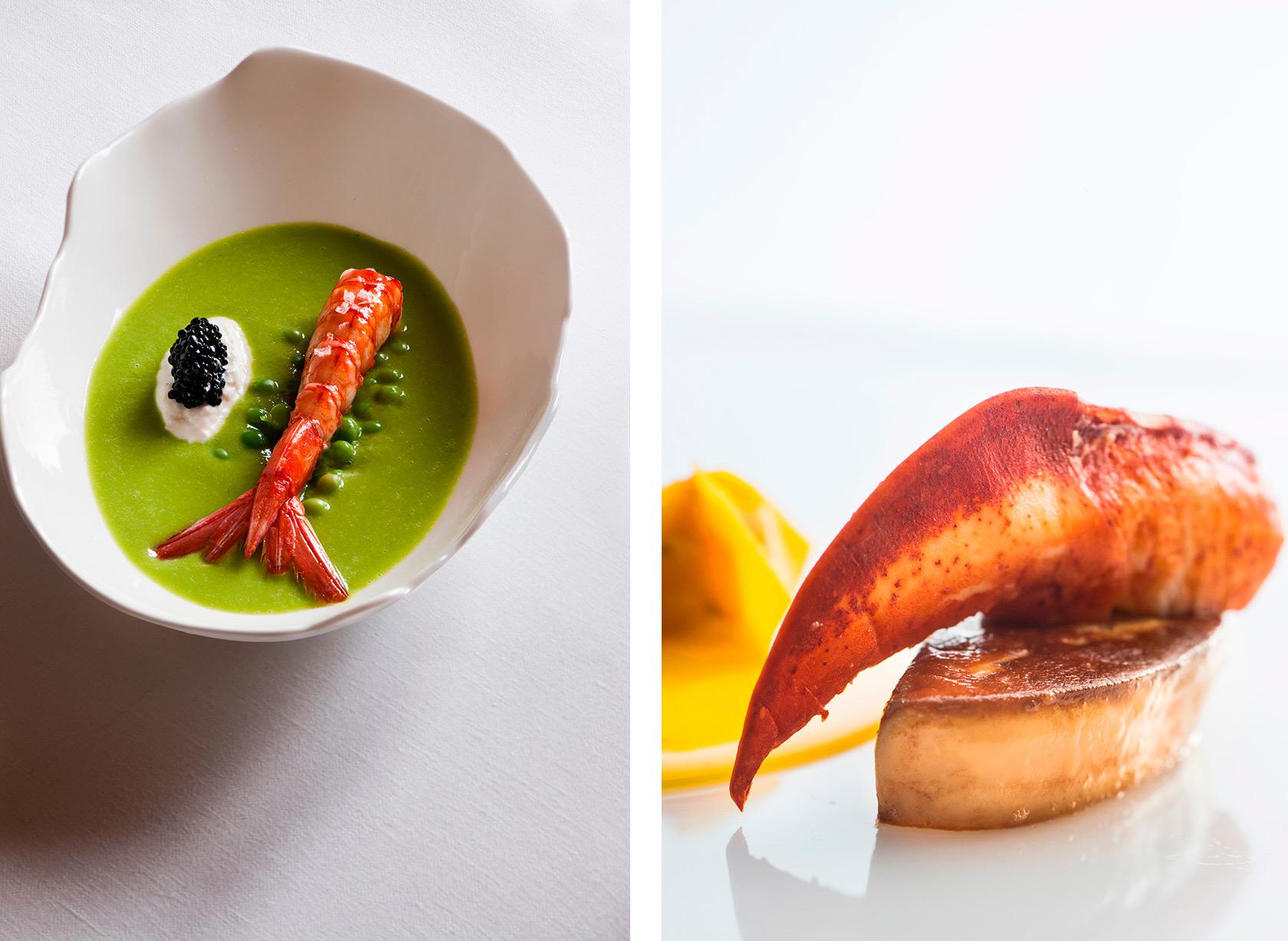 piselli-scampi-burrata-arnolfo-astice-ristorante_Chef-Gaetano-Trovato